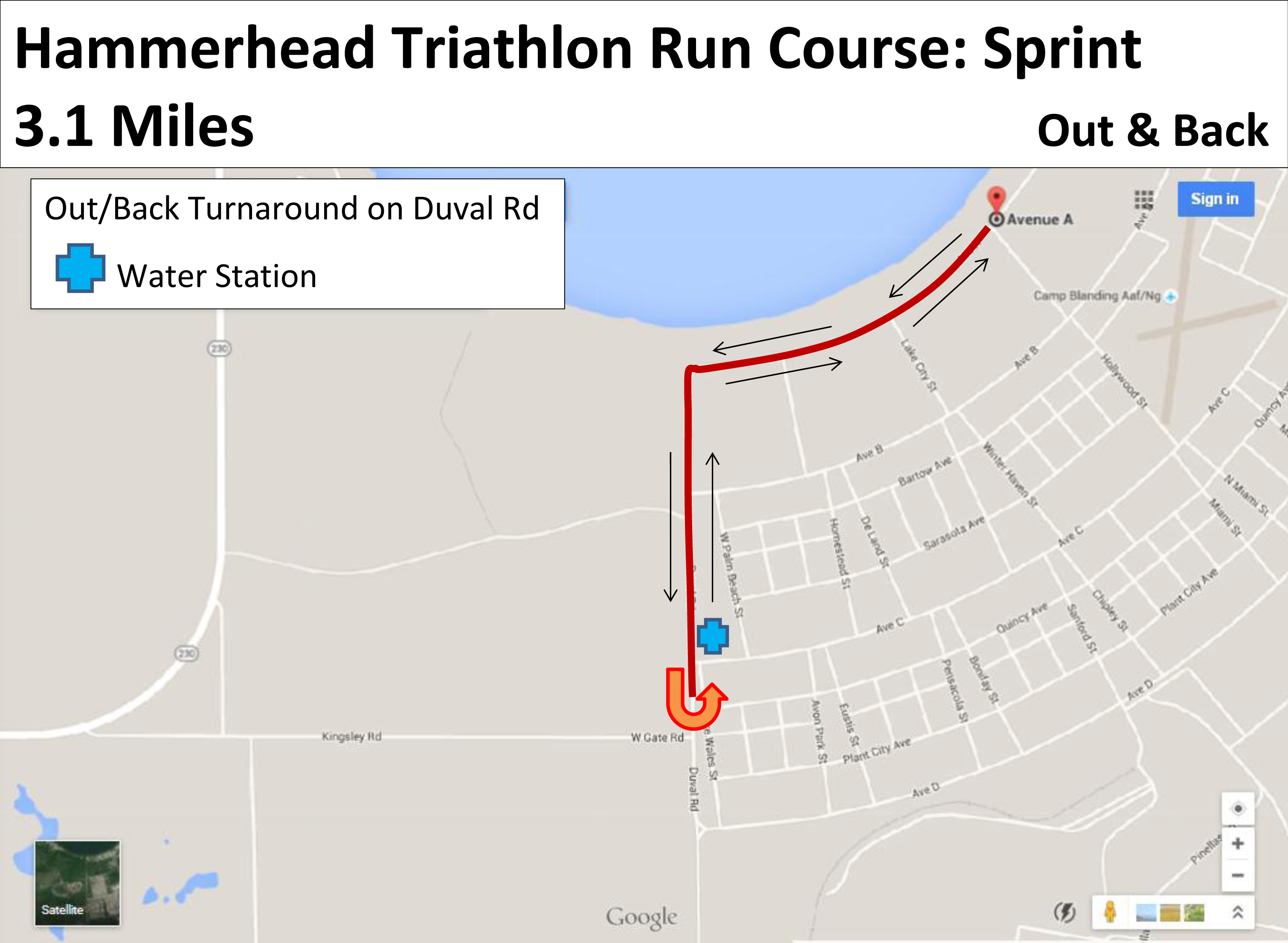 Camp Blanding Florida Map.Hammerhead Olympic Triathlon Run Course